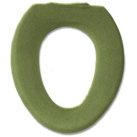 オカ 便座カバー シャン・ラパン O型 グリーン 抗菌 防臭