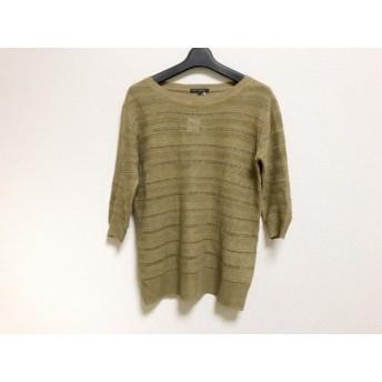 【中古】 ニジュウサンク 半袖セーター サイズ32 XS レディース カーキ 麻/vingt-trois arrondissements