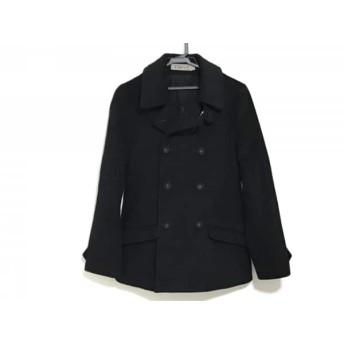 【中古】 トローヴ TROVE Pコート サイズ2 M メンズ 黒 冬物/カシミヤ混
