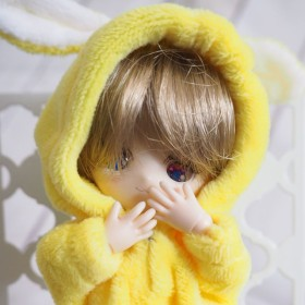 ふわうさパジャマ ひまわり色 オビツ11