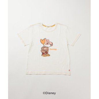 【70%OFF】 リップスター DISNEY COLLECTION DWARFS Tシャツ レディース イエロー M 【LIPSTAR】 【セール開催中】