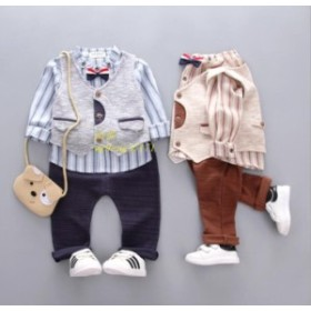 フォーマルスーツセット3点セット ベビー服 赤ちゃん キッズ 出産祝い 男の子 卒園式 長袖 子供 オシャレ タキシード 入学式 結婚式 誕生