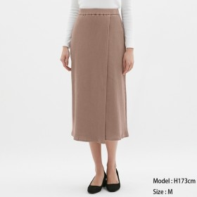 (GU)リブラップミディスカート PINK XL