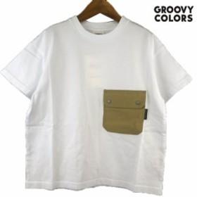 GROOVY COLORS(グルービーカラーズ) POCKET BIG TEE  (90-140) 半袖Tシャツ