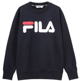 マックハウス FILA フィラ ロゴプリントトレーナー FL1646 レディース ネイビー L 【MAC HOUSE】