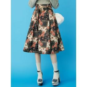 ミニスカート - dazzlin バッククロスフレアスカート