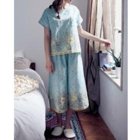 綿100%やわらかダブルガーゼ半袖パジャマ