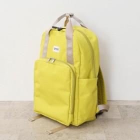 バッグ カバン 鞄 レディース リュック 10ポケット多収納リュックサック カラー 「イエロー」