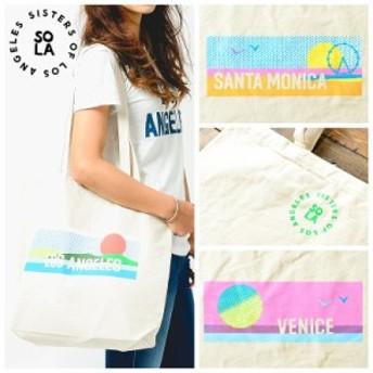 SOLA ソラ Sister Of Los Angels シスターオブロサンゼルス 西海岸シティプリント トートバッグ レディース メンズ かばん カバン 鞄