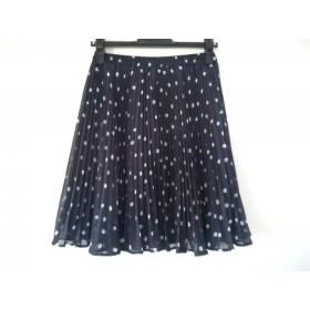 【中古】 ジャスグリッティー JUSGLITTY スカート サイズ1 S レディース 美品 ネイビー 白 グリーン