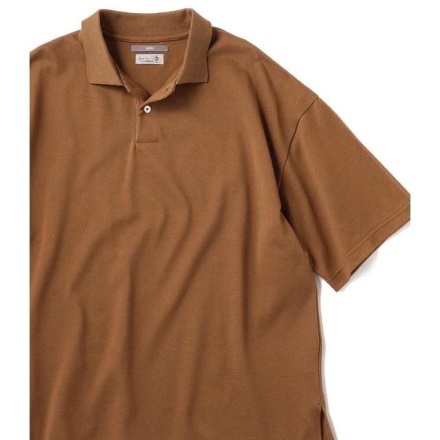 【40%OFF】 シップス SU: ビッグ 鹿の子 ポロシャツ メンズ ベージュ MEDIUM 【SHIPS】 【セール開催中】