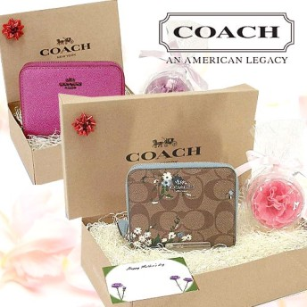 ★SUPER SALE限定特価商品!★ COACH OUTLET 母の日 ギフト セット 【袋無し】 特集【選べる13タイプ】 レザー 二つ折り財布 ギフト 母の日 財布