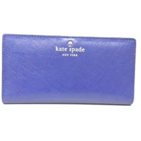 【中古】 ケイトスペード Kate spade 長財布 美品 PWRU2127 ネイビー レザー