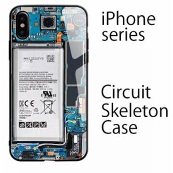 iPhoneXS ケース iPhoneXR ケース iPhone XS MAX ケース iPhone8 ケース iPhone8Plus ケース ガラス 耐衝撃 機械 スケルトン