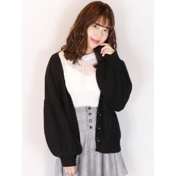 ニット・セーター - dazzlin 【S】ガーターVカーディガン
