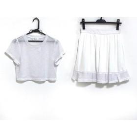 【中古】 ジルバイジルスチュアート スカートセットアップ サイズM レディース 美品 白 シースルー