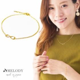 送料無料 日本製 インフィニティ ブレスレット  Infinity 永遠   結婚式 バングル プチプラ ゴールド シンプル ピンクゴールド