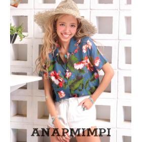【セール開催中】ANAP(アナップ)ハイビスカスアロハシャツ
