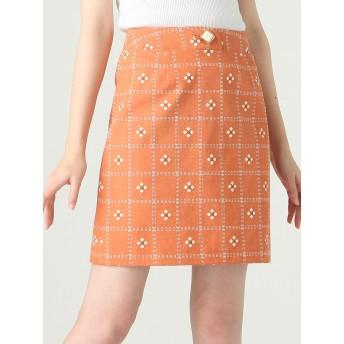 ミニスカート - dazzlin レトロフラワースカート