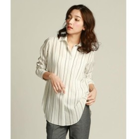 la.f... / ラ・エフ キュアセルストライプ柄すっきりシャツ
