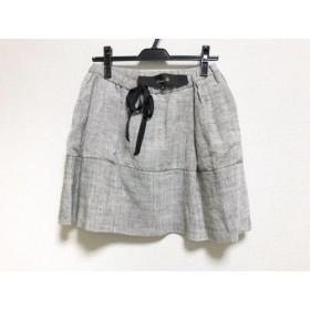【中古】 ドゥロワー Drawer スカート サイズ36 S レディース 美品 ベージュ 黒