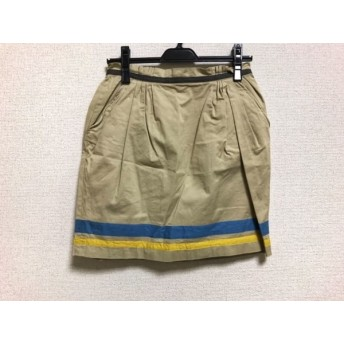 【中古】 ランバンオンブルー LANVIN en Bleu スカート サイズ36 S レディース ベージュ ブルー マルチ