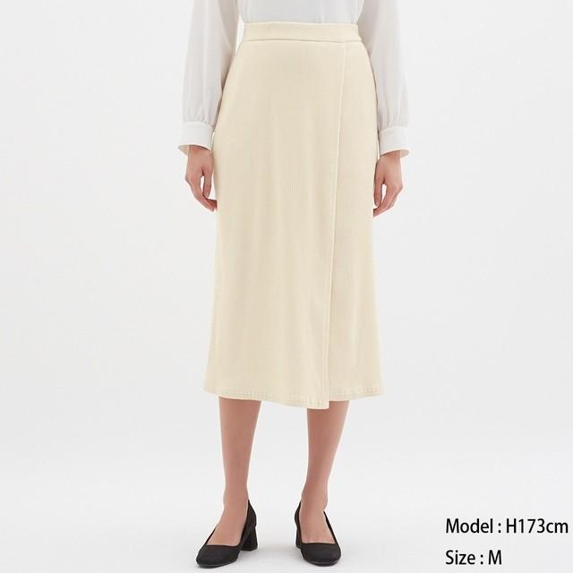 (GU)リブラップミディスカート NATURAL L
