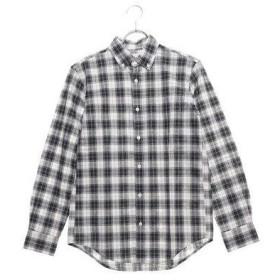 セブンデイズ サンデイ  SEVENDAYS=SUNDAY outlet ビンテージチェック 長袖ボタンダウンシャツ (グリーン)