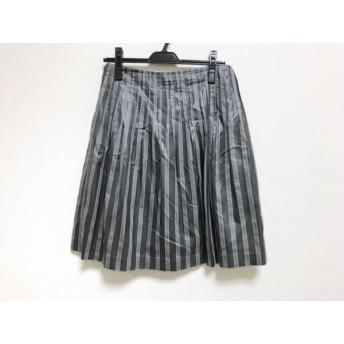 【中古】 トゥモローランド スカート サイズ38 M レディース 美品 ダークグレー グレー ストライプ