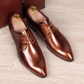 メンズ 革靴 紳士靴 ビジネスシューズ エナメル フォーマル レースアップ ドレスシューズ 結婚式 卒業式 通勤 オフィス 冠婚葬祭 シーク