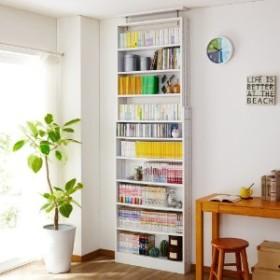 【6月5日まで大型商品送料無料】奥行15cmの薄型突っ張り本棚