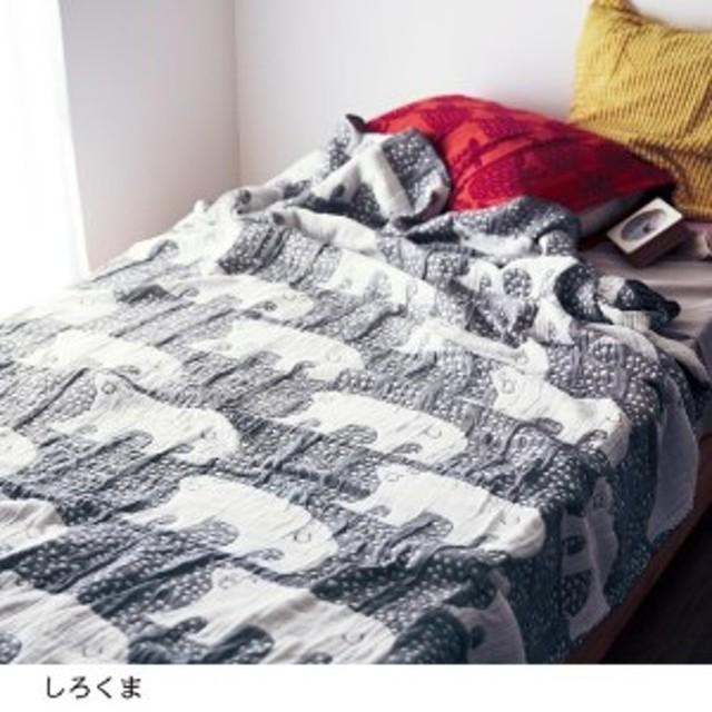 5重ガーゼのジャカード織りケット