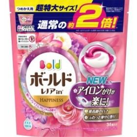 ボールド 洗濯洗剤 ジェルボール3Dプレミアムブロッサムの香り 詰め替え 超特大(34コ入)[柔軟剤入り洗濯洗剤つめかえ用(液体)]