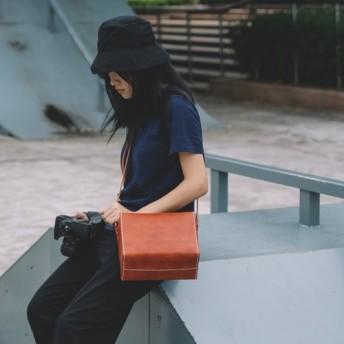 本革手作りのクラシックレザーカメラバッグをショルダーバッグ