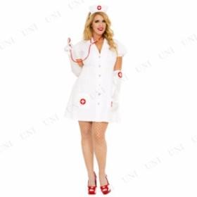 コスプレ ナース Aラインスカート・ナース 3X/4X 衣装 コスプレ ハロウィン 仮装 余興 大人 レディース スカート 大きいサイズ 看護師 グ