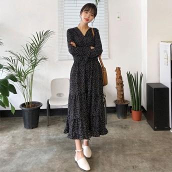 ワンピース - ONNY SHOP 【MERONGSHOP メロンショップ】イレギュラードットカシュクールワンピース P000BUGS 韓国 ファッション韓国ファッション レディース