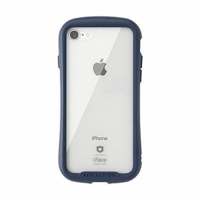 HAMEE [iPhone 8/7専用]iFace Reflectionハイブリッドガラスケース 41-907122(ネイビー)