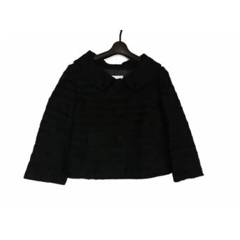 【中古】 アナトリエ anatelier ジャケット サイズ38 M レディース 美品 黒