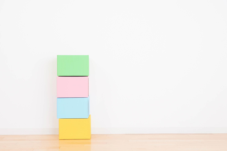 色のついた箱