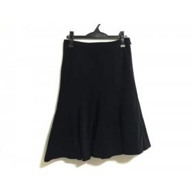 【中古】 ラルフローレン RalphLauren スカート サイズ7 S レディース 黒 コーデュロイ