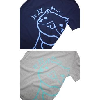Tシャツ - GROOVY STORE Tシャツ ねこぶちさん デカプリント キラーン 半袖 Tシャツ 猫渕さん 猫 ねこ