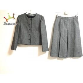 ニューヨーカー NEW YORKER スカートスーツ サイズ11A-3 レディース 黒×白 Ladies' NEW YORKER  値下げ 20190704