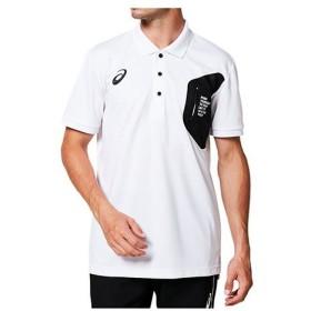 [asics]アシックス ウェア LIMO グラフィック ポロシャツ メンズ 半袖Tシャツ (2031A687)(100)ホワイト