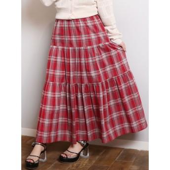 ミニスカート - dazzlin マドラスチェックマキシスカート