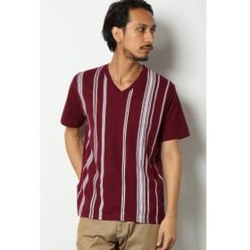 【イッカ/ikka】 ストライププリントTシャツ