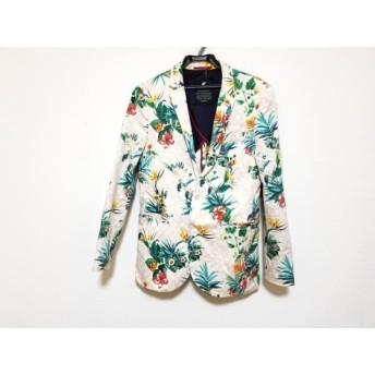 【中古】 ラブレス LOVELESS ジャケット サイズ2 M メンズ アイボリー マルチ 花柄