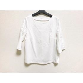【中古】 アマカ AMACA 七分袖カットソー サイズ44 L レディース 白