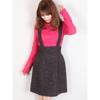 ミニスカート - dazzlin 【sw】サス付ツイードスカート