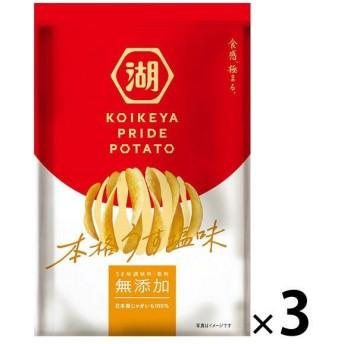 湖池屋 KOIKEYA PRIDE POTATO(湖池屋プライドポテト) 本格うす塩味 1セット(3袋)