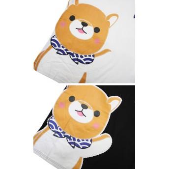 Tシャツ - GROOVY STORE Tシャツ 豆しば 三兄弟 デカプリント 吸水速乾 加工 半袖 Tシャツ